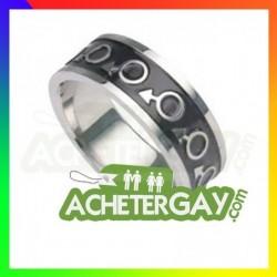 bague gay homme acier inoxydable