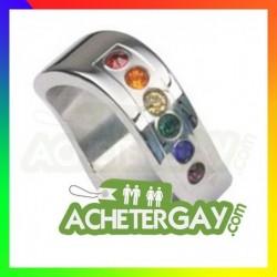Bague en acier rainbow