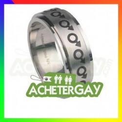 bague en acier gay