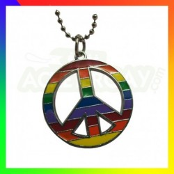 collier gay pride peace and love