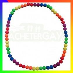 Collier LGBT Perles Fluos