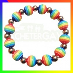 Bracelet LGBT Perles Métal...