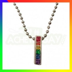 Collier LGBT Plaque Fine