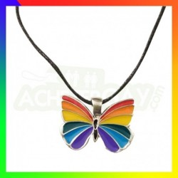 Collier LGBT Papillon rainbow