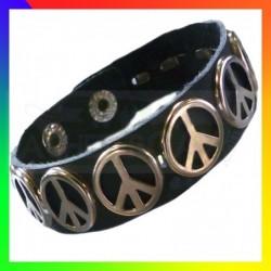 Bracelet Cuir Peace & Love