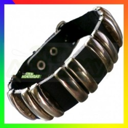 Bracelet Cuir 2 lignes