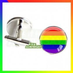 Boutons de manchettes LGBT