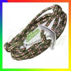 Bracelet nylon et ancre...