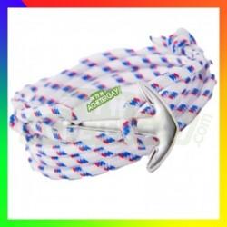 Bracelet nylon Ancre Blanc