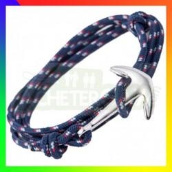 Bracelet nylon Ancre Bleu...