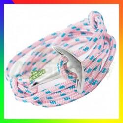 Bracelet nylon Ancre rose