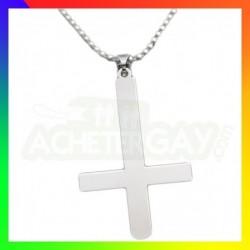 Pendentif  acier inoxydable croix
