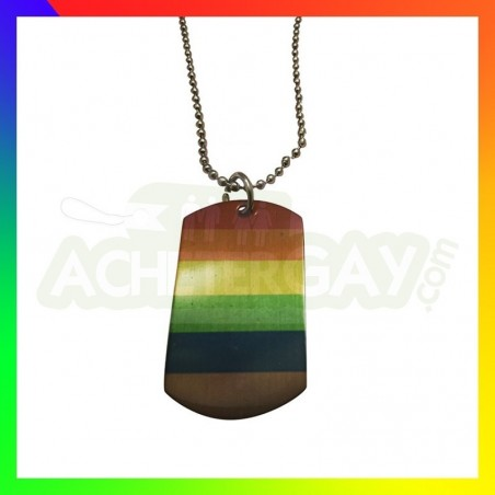 collier plaque rainbow