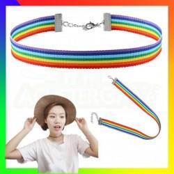 ras du cou en nylon rainbow