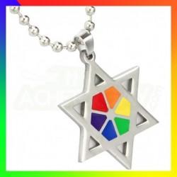 pendentif judaïque couleurs LGBT