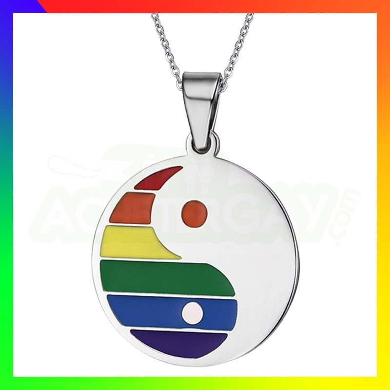 Pendentif en acier LGBT
