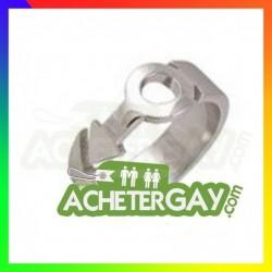 Bague en acier inoxydable pour homme gay