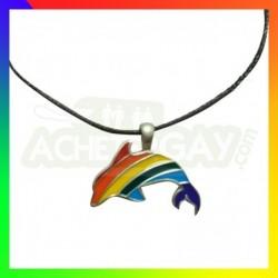 collier dauphin rainbow