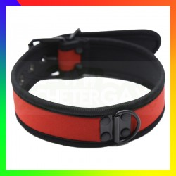 Collier dog training rouge