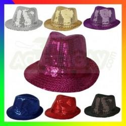 chapeau paillette