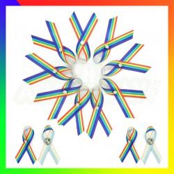 Pins ruban tissus rainbow