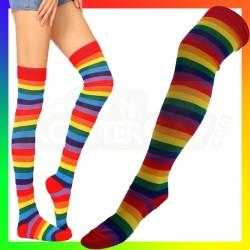Chaussettes hautes rainbow