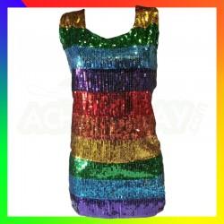 Haut rainbow paillettes
